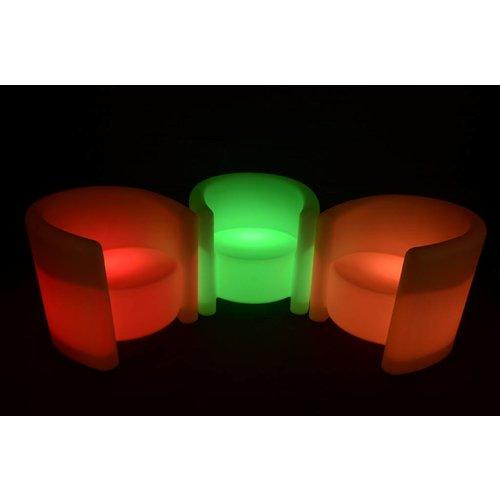 Lichtgevende LED Armstoel / Fauteuil Deluxe Oplaadbaar