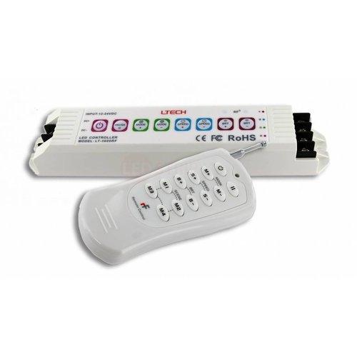 LTECH RGB LED Controller 12-24V 18A met RF afstandsbediening