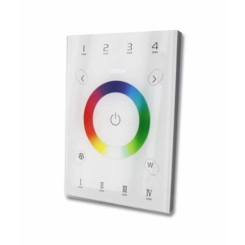 LTECH RGBW Touch paneel wit 2.4Ghz RF en DMX512