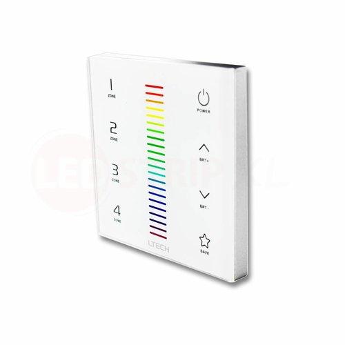 LTECH Wandpaneel EX7 voor 4-zone 2.4G en DMX512 RGB bediening