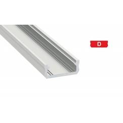 Aluminium opbouw profiel plat 1 meter