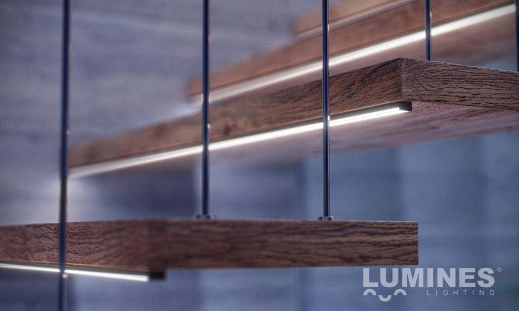 100cm Plat Aluminium Opbouw Lumines Profiel dCBeroWx