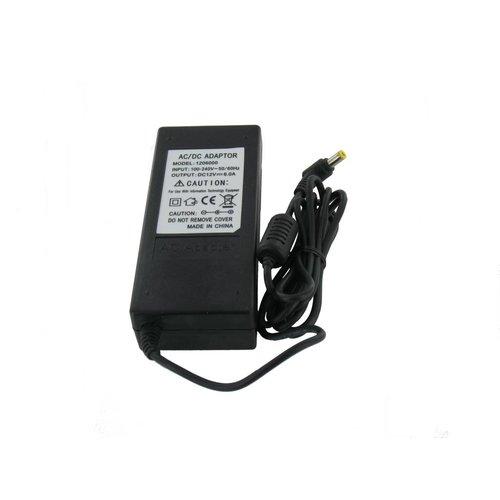 LEDStrip Voedingsadapter 12 Volt 6 Ampere Transformator