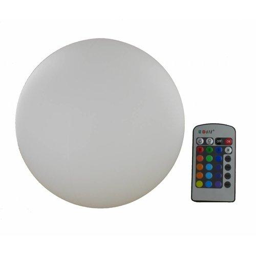 LED Decoratie Bol RGB 30cm Oplaadbaar met afstandsbediening