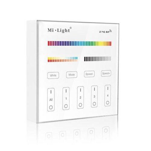 Milight Draadloos 2,4Ghz Wandpaneel 4 Zone RGB+CCT