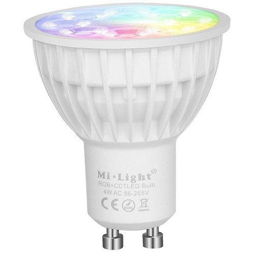 Milight / MiBoxer 4 Watt RGB + Warm Wit en Koud Wit GU10 CCT Dual White Inbouw Spot