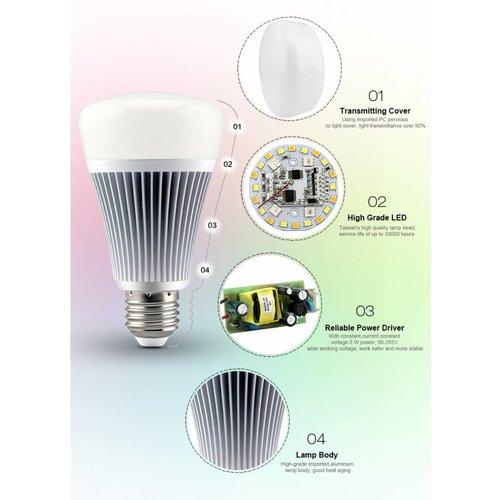 Milight RGB + Warm Wit en Koud Wit Smart LED Lamp 8W FUT015