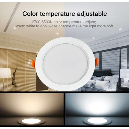 Milight / MiBoxer 15 Watt RGB + Warm Wit + Koud Wit CCT Downlight Waterdicht IP54