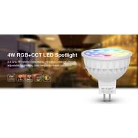 Milight 4 Watt 12 Volt RGB + Warm Wit en Koud Wit MR16 CCT Dual White Inbouw Spot
