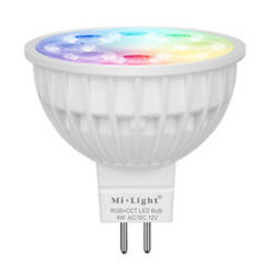 4 Watt 12 Volt RGB + Warm Wit en Koud Wit MR16 CCT Dual White Inbouw Spot