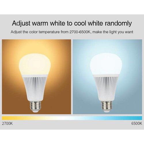 Milight / MiBoxer 9 Watt RGB + Warm Wit en Koud Wit E27 CCT Dual White Lamp