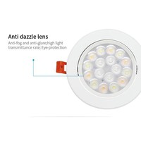 Milight 9 Watt RGB + Warm Wit + Koud Wit  CCT kantelbare downlight Dual White