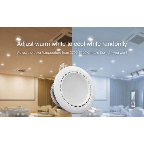 Milight / MiBoxer 15 Watt RGB + Warm Wit + Koud Wit CCT Downlight Dual White