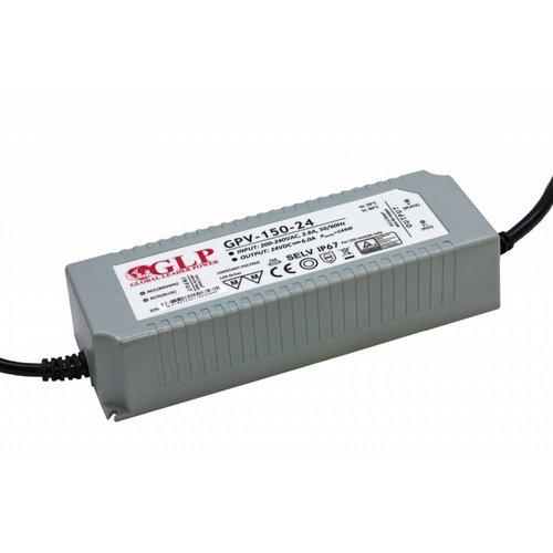 GLP Waterdichte LEDStrip Voedingsadapter 24 Volt 6 Ampere Transformator