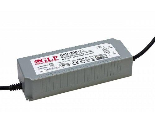 GLP Waterdichte LEDStrip Voedingsadapter 12 Volt 16 Ampere Transformator