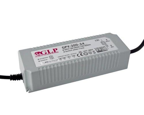 GLP Waterdichte LEDStrip Voedingsadapter 24 Volt 8.3 Ampere Transformator