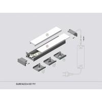 TOPMET Aluminium opbouw profiel voor 14mm strips 2 meter