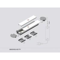 TOPMET Aluminium inbouw profiel voor 14mm strips 2 meter