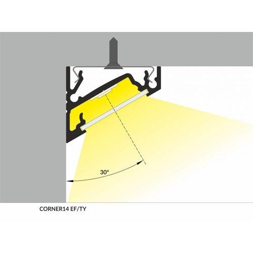 TOPMET 14mm Aluminium hoek profiel 1 meter 60/30 graden Corner14