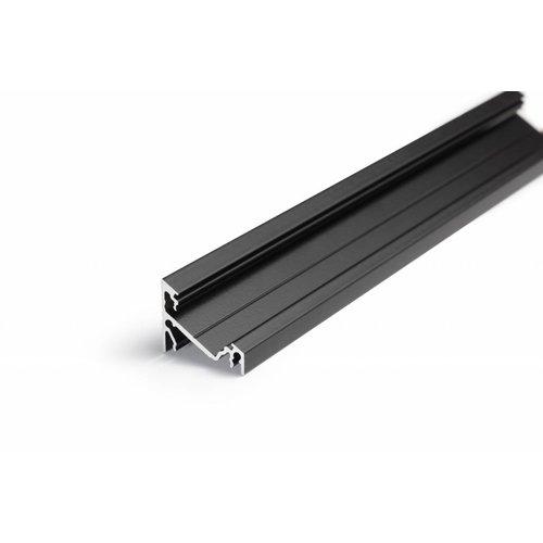 TOPMET 14mm Aluminium hoek profiel 2 meter 60/30 graden Corner14
