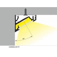 TOPMET 14mm Aluminium hoek profiel 2 meter 60/30 graden