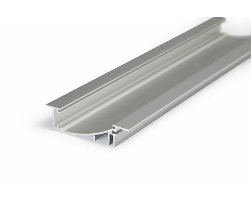TOPMET Aluminium inbouw profiel met verticale schijnhoek