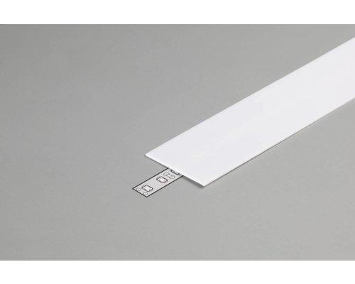 TOPMET Milky Cover 1 meter voor profiel met verticale schijnhoek