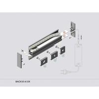 TOPMET Aluminium T profiel 1 meter voor indirect licht