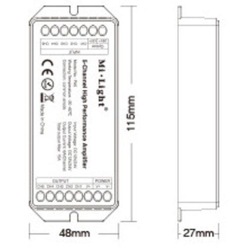 Milight / MiBoxer RGB+CCT 5 kanaals Versterker 15 Ampère