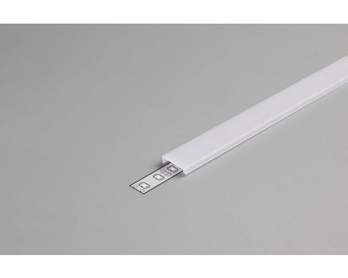 TOPMET Milky Click-Cover 2m voor 14mm TOPMET profielen
