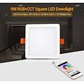 Milight 9 Watt RGB + Warm Wit + Koud Wit CCT Downlight Vierkant