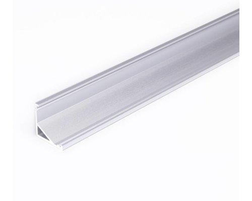 TOPMET Aluminium hoek profiel 2 meter met groot schijnvlak