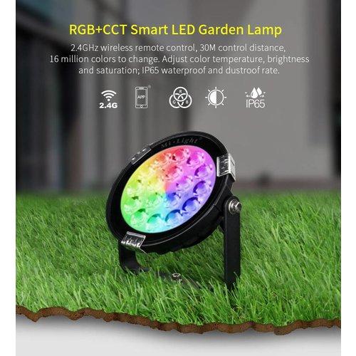 Milight 9 Watt 230 Volt RGB + Warm Wit + Koud Wit Tuinlamp