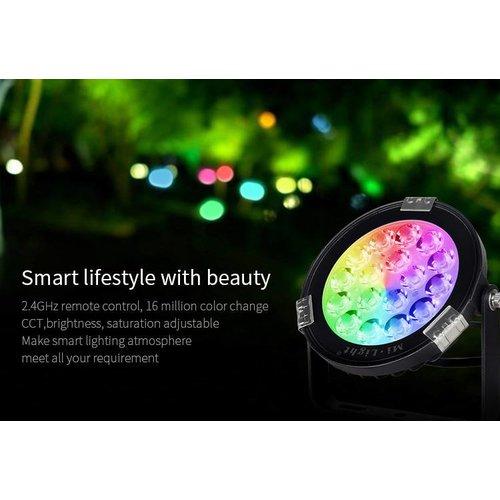 Milight / MiBoxer 9 Watt 230 Volt RGB + Warm Wit + Koud Wit Tuinlamp