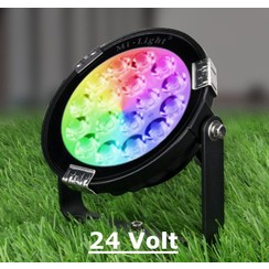 9 Watt 24 Volt RGB + Warm Wit + Koud Wit Tuinlamp