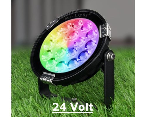 Milight 9 Watt 24 Volt RGB + Warm Wit + Koud Wit Tuinlamp