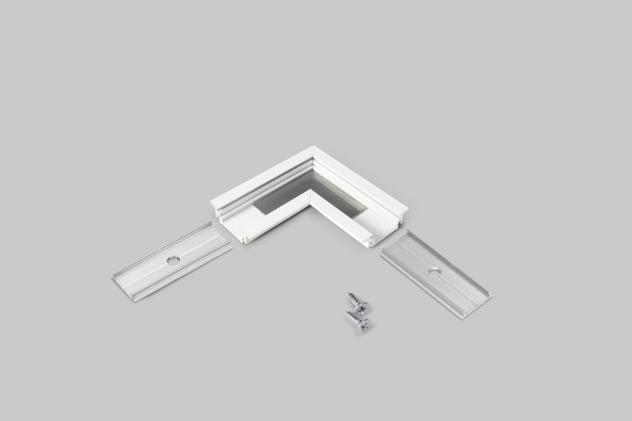 hoek connector wit voor inbouw profiel