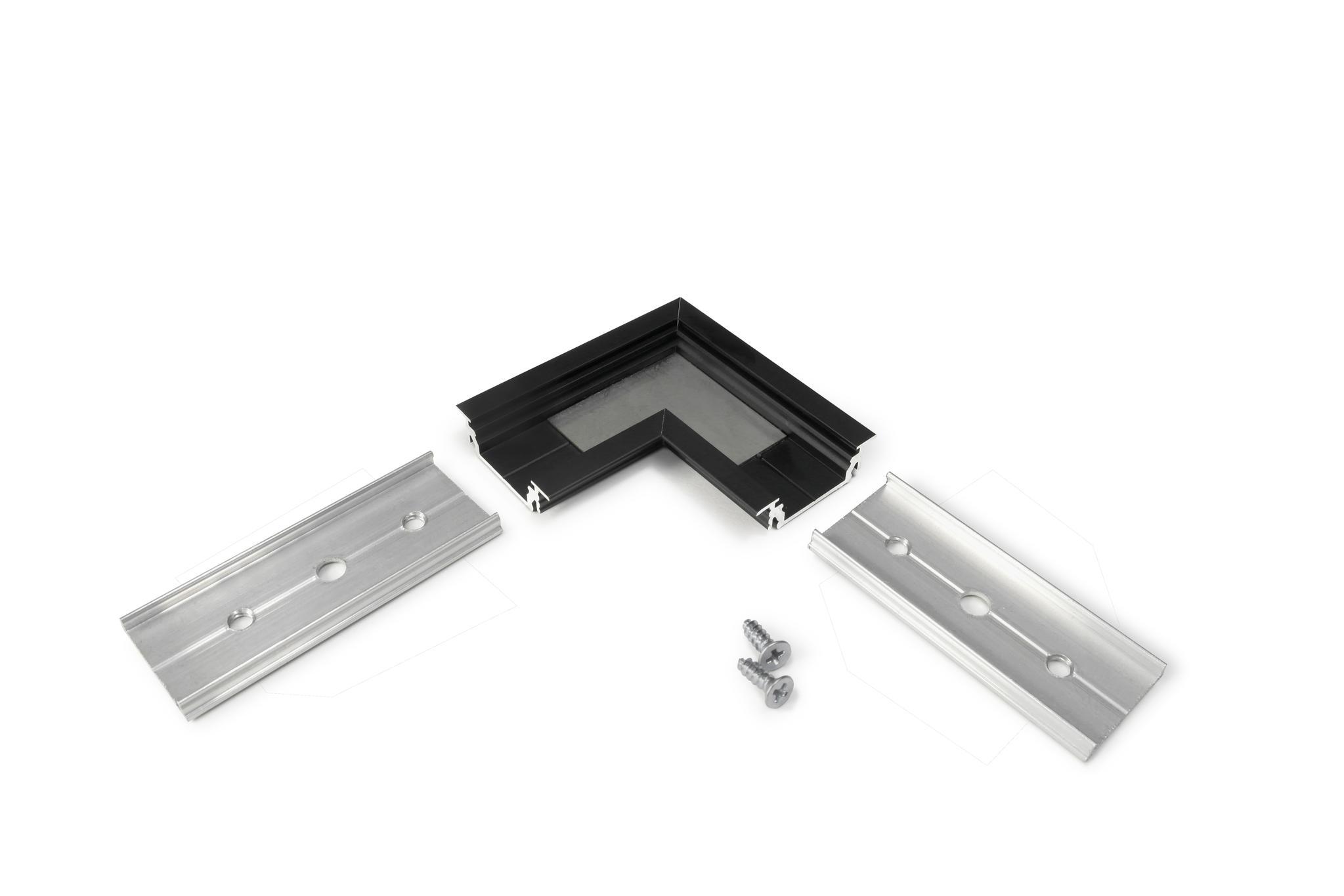 inbouw profiel 14mm hoekverbinding zwart