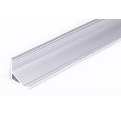 Aluminium hoek profiel 1 meter met groot schijnvlak