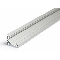14mm Aluminium hoek profiel 1 meter 60/30 graden
