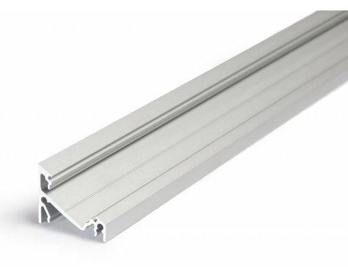 TOPMET 14mm Aluminium hoek profiel 1 meter 60/30 graden