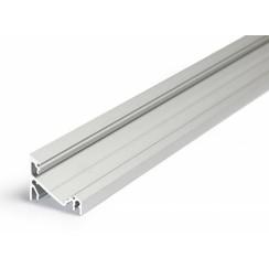 14mm Aluminium hoek profiel 2 meter 60/30 graden