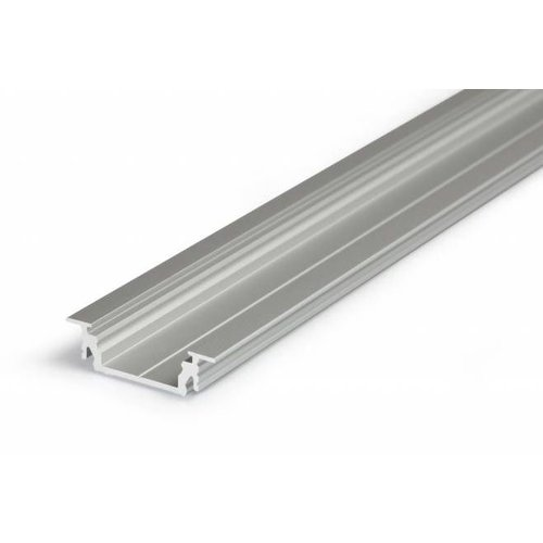 TOPMET Aluminium inbouw profiel voor 14mm strips 1 meter Groove14