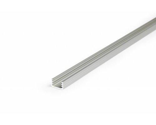 TOPMET Aluminium opbouw profiel SLIM voor 8mm strips 2 meter