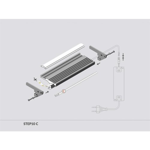 TOPMET Aluminium LED Profiel 2 meter voor traptreden STEP10