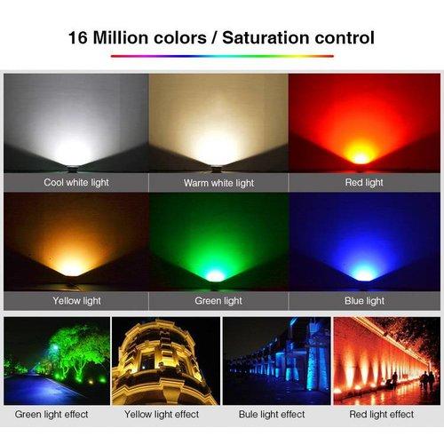 Milight / MiBoxer 10 Watt RGB+CCT LED Floodlight Warm Wit + Koud Wit