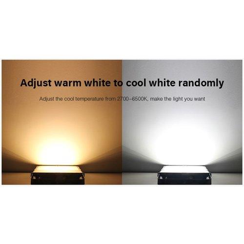 Milight / MiBoxer 100 Watt RGB+CCT LED Floodlight Warm Wit + Koud Wit