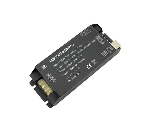 Euchips DMX Driver 24V 150W 3 kanaals voor RGB ledstrips