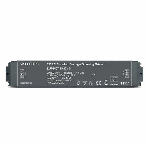 Euchips TRIAC/ELV dimbare led driver 12V 150W 12.5A