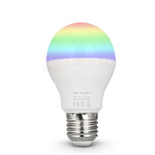 Milight / MiBoxer 6 Watt RGB + Warm Wit en Koud Wit E27 CCT Dual White Lamp